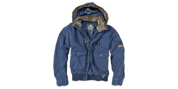 Pánská modrá bunda s kapucí Brunotti