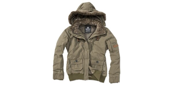 Dámská khaki bunda s kapucí Brunotti