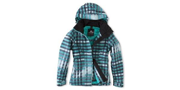 Dámská zeleně kostkovaná zimní bunda Brunotti