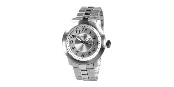 Pánské ocelové analogové hodinky s datumovkou Esprit