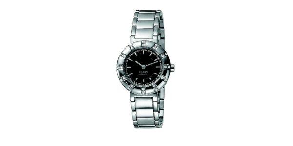 Dámské ocelové hodinky s kulatým pouzdrem s kamínky Esprit