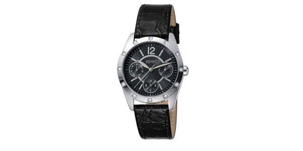 Dámské analogové hodinky osázené kamínky Esprit