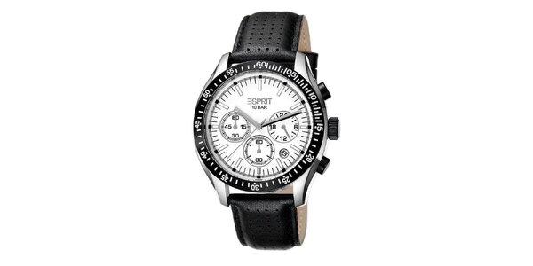 Pánské analogové hodinky z nerezové oceli s černým páskem Esprit