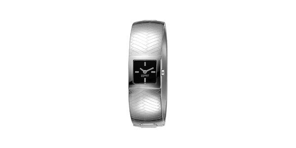 Dámské stříbrně tónované hodinky s reliéfem Esprit