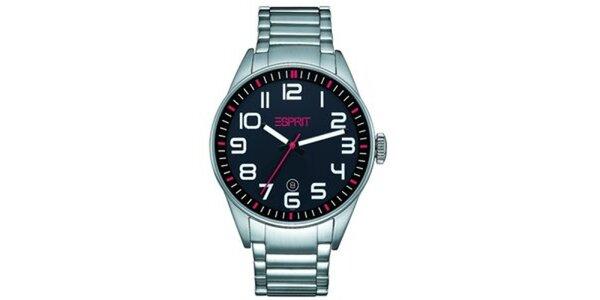 Pánské kulaté hodinky s černým ciferníkem Esprit