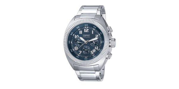 Pánské ocelové hodinky s modrým ciferníkem Esprit