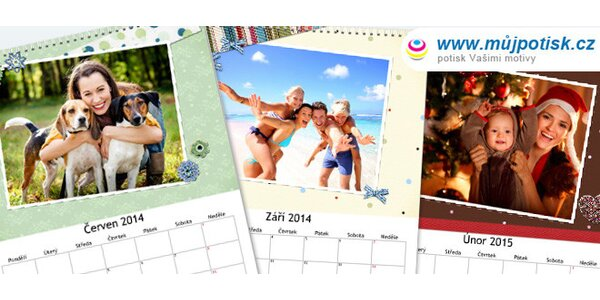 Nástěnné fotokalendáře ve dvou formátech