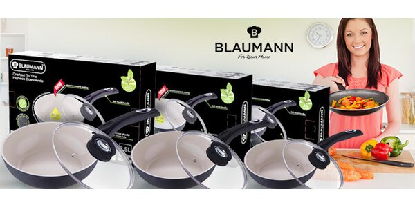 Hluboké pánve Blaumann pro náročnější kuchaře