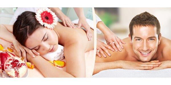 80minutová sportovní masáž zad, šíje a dolnich končetin
