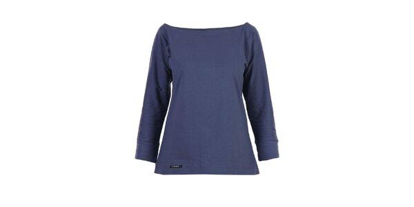 Dámské modré tričko Yuliya Babich s lodičkovým výstřihem