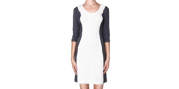 Dámské šedo-bílé šaty Yuliya Babich