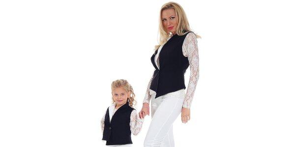 Dámská černá asymetrická vesta Berry Couture