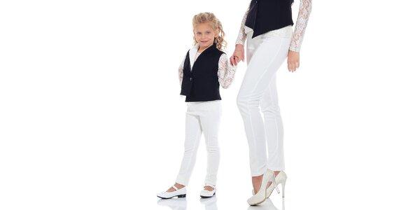 Dívčí bílé legíny Berry Couture