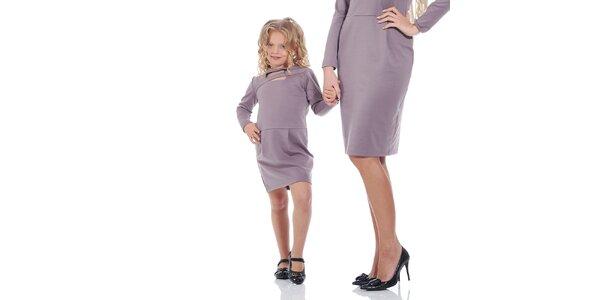 Dívčí fialové šaty Berry Couture