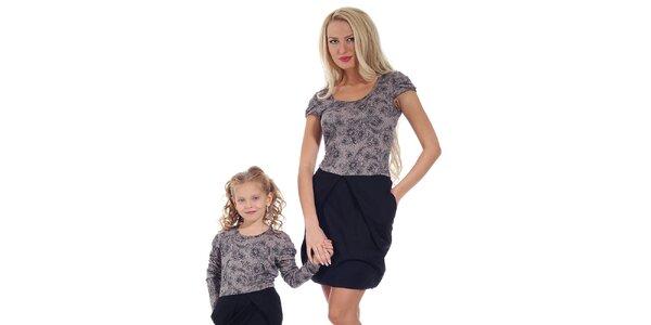 Dámské šaty s fialovým květinovým vrškem Berry Couture