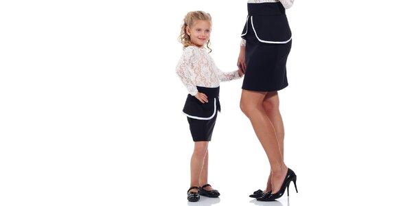 Dětská černá peplum sukně Berry Couture