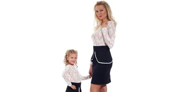 Dámská černá peplum sukně Berry Couture