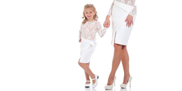 Dívčí bílá sukně Berry Couture