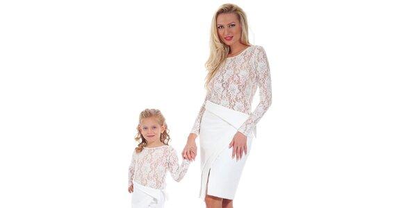 Dámská bílá pouzdrová asymetrická sukně Berry Couture