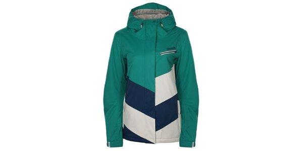 Dámská zeleno-modro-bílá snowboardová bunda Bench