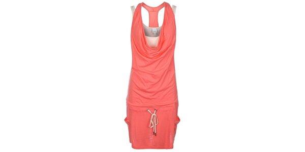 Dámské lososové šaty s tílkem Bench