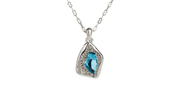 Dámský náhrdelník s modrým kamínkem Fifi Ange