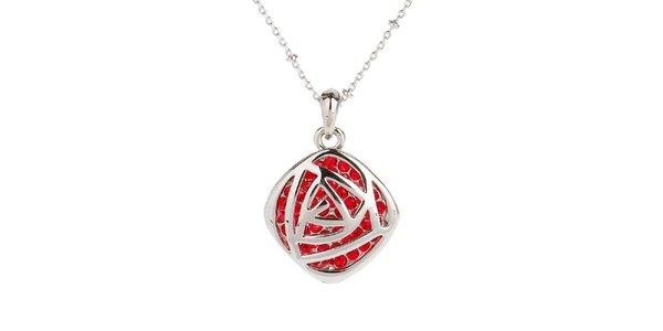 Dámský náhrdelník s červenými kamínky Fifi Ange