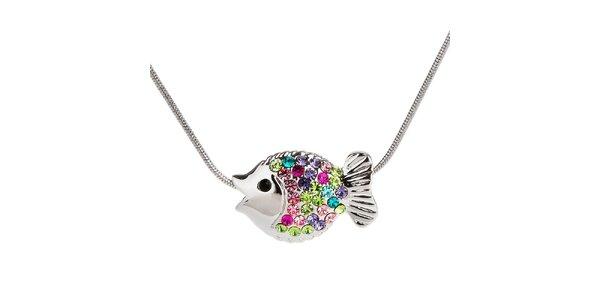 Dámský náhrdelník s barevnou rybičkou Fifi Ange