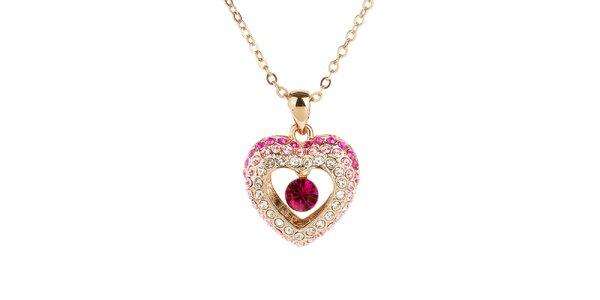 Dámský náhrdelník s krystalovým Swarovski Elements srdíčkem Fifi Ange