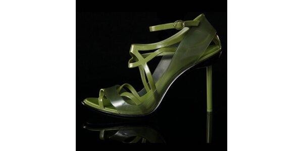 Dámské zelené sandálky Melissa + Jean Paul Gaultier