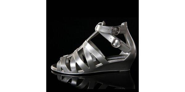 Dámské stříbrné sandálky Melissa