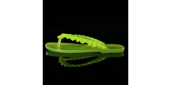 Dámské zelené žabky Melissa + Salinas