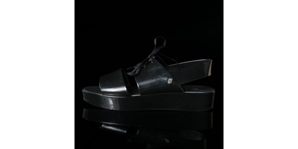 Dámské černé sandále Melissa + Elisabeth De Senneville