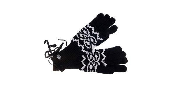 Dámské černobílé rukavice Pietro Filipi s norským vzorem