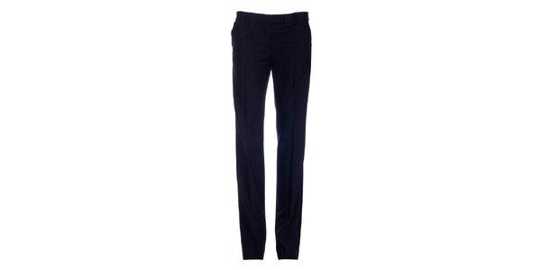 Dámské černé úzké kalhoty s puky Pietro Filipi