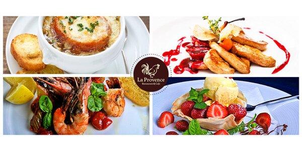 Šestichodové menu z francouzských delikates