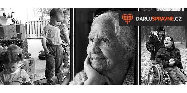Darujte naději seniorům, dětem i handicapovaným