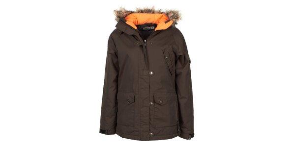 Dámská funkční hnědá zimní bunda E2KO