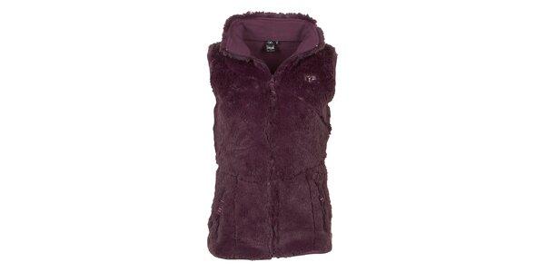 Dámská fialová fleecová vesta Utopik