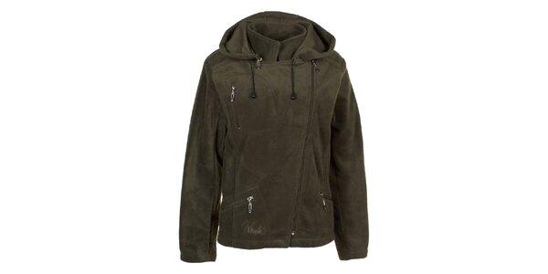 Dámská khaki fleecová bunda Utopik