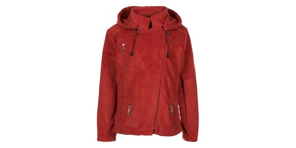 Dámská červená fleecová bunda Utopik