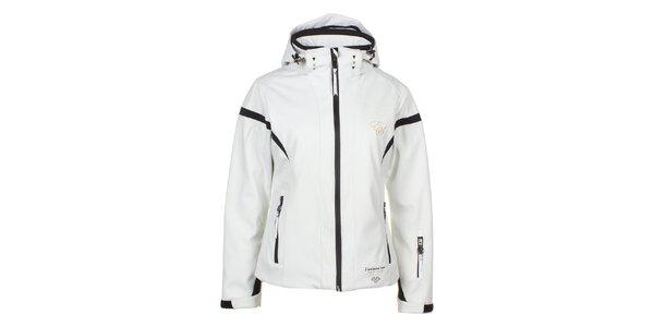 Dámská bílo-černá softshellová bunda E2KO