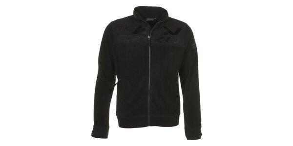 Pánská černá fleecová bunda E2KO