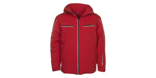 Pánská červená bunda s vodním sloupcem E2KO