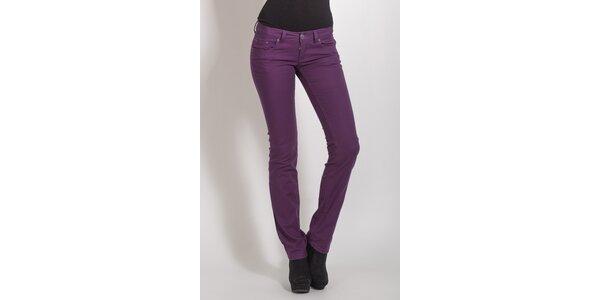 Dámské fialové skinny kalhoty Phard
