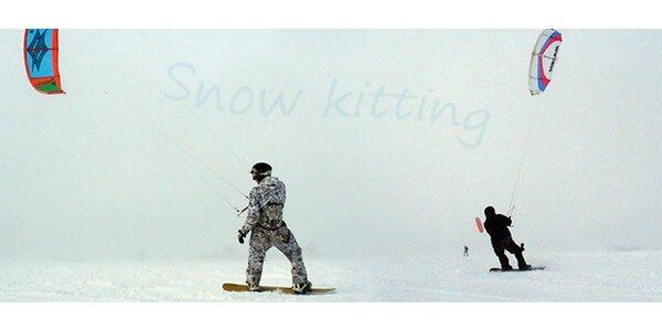 Kurz snow kitingu pod vedením mistra republiky