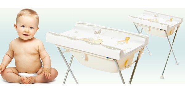 Přebalovací pult s vaničkou pro pohodlí a bezpečí miminka
