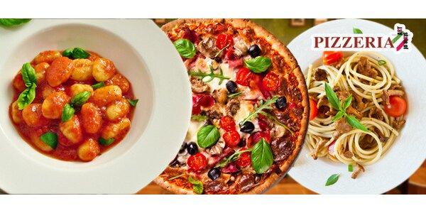 Italská večeře pro dva – pizza, pasta nebo gnocchi