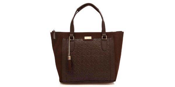 Dámská čokoládová kabelka se střapcem Paris Hilton