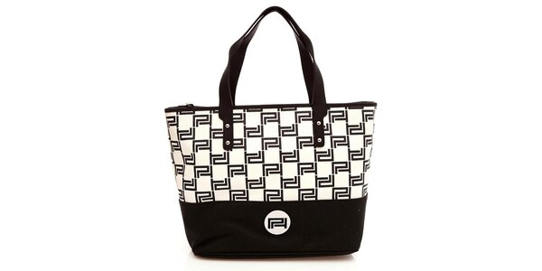 Dámská černobílá kabelka s pevnými uchy Paris Hilton